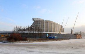 В Петербурге при демонтаже обрушилась кровля СКК. Есть пострадавшие