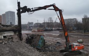 Подготовка стройплощадки для «ЛСР. Недвижимость-СЗ»