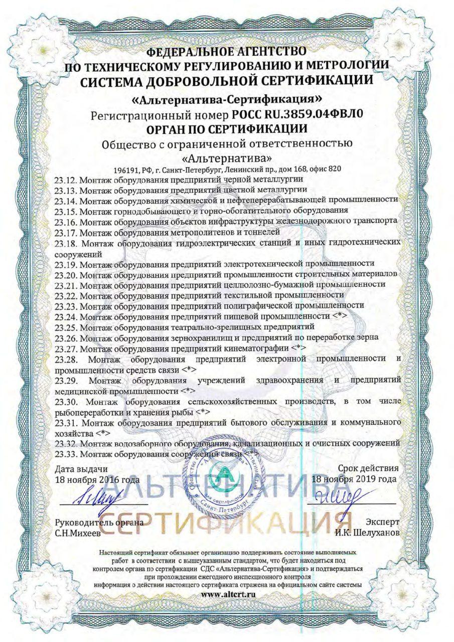 Приложение 7 к сертификату