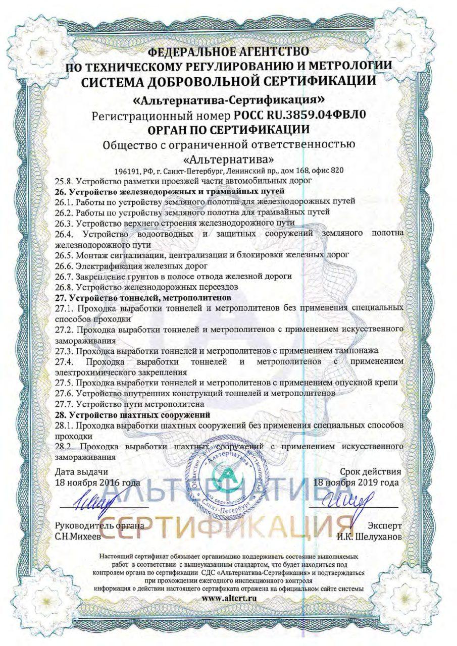 Приложение 10 к сертификату