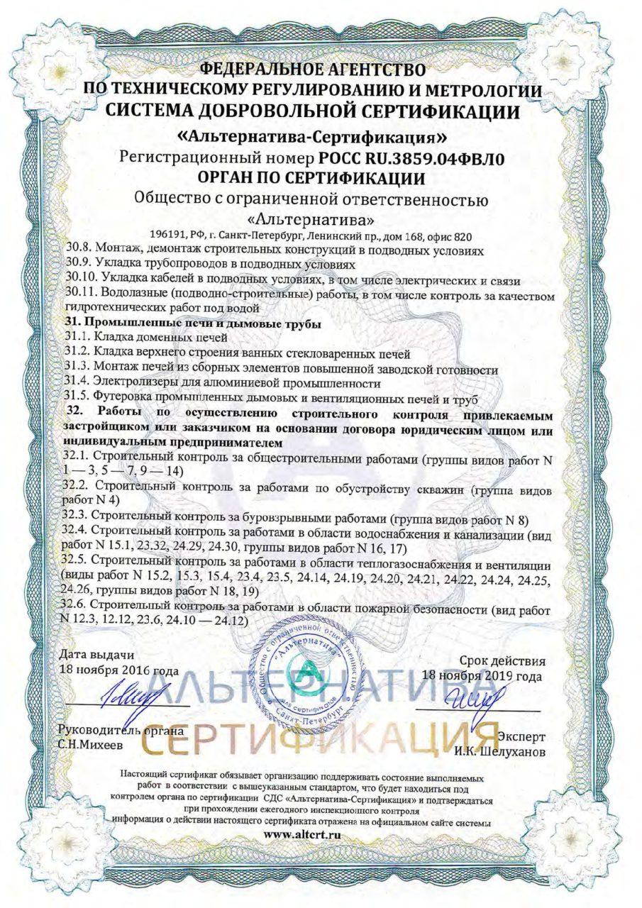 Приложение 12 к сертификату