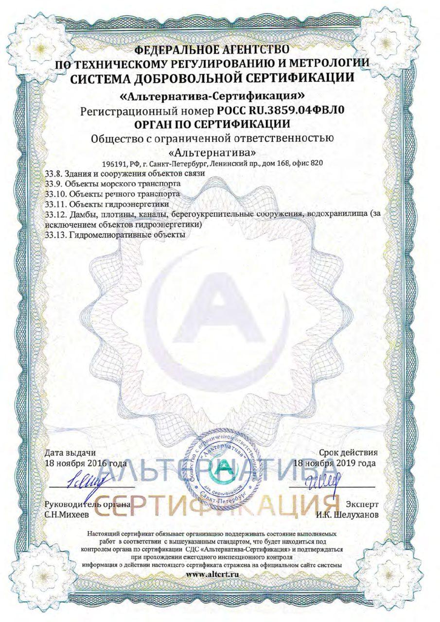 Приложение 15 к сертификату