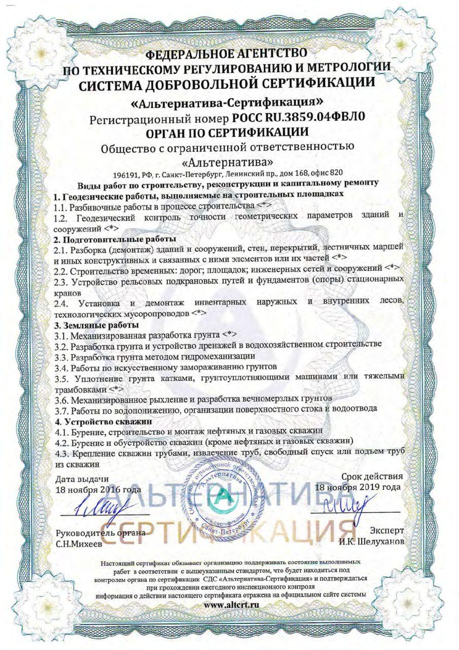 Приложение 4 к сертификату