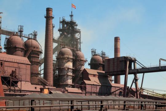 Демонтаж на территории старейшего металлургического предприятия России