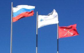 Флаг «СносСтройИнвест» над Санкт-Петербургом