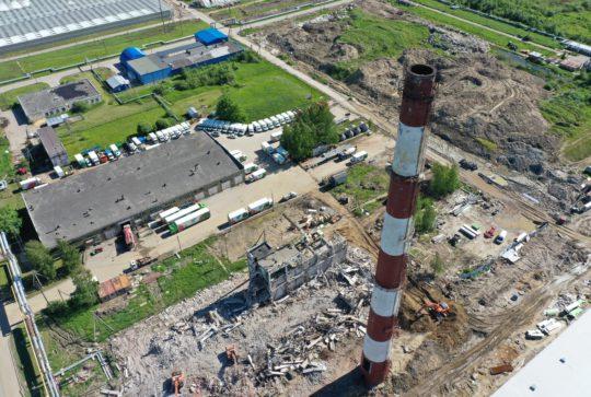 Комплекс работ по демонтажу на территории ЗАО Агрофирма «Выборжец»