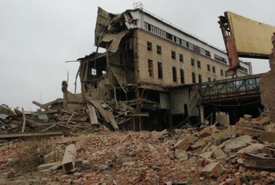 Демонтирован кирпичный завод ЛСР в Никольском