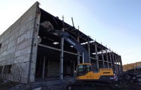 Демонтаж объектов на территории нефтяного терминала «Лавна»