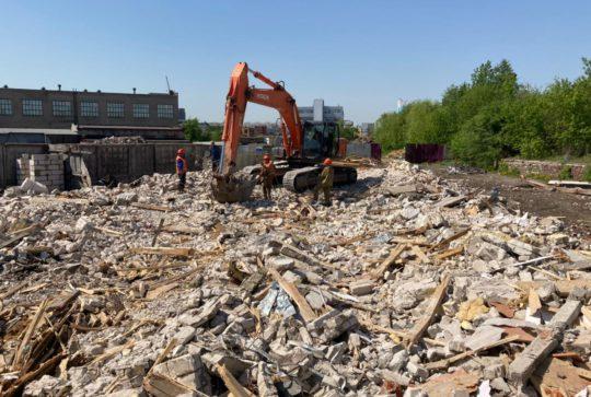 Демонтаж сооружений для ГК «Гранель» в Москве завершен