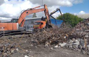 Демонтаж склада для «Омск Карбон Групп»