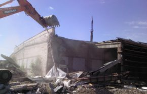 Демонтаж складских помещений. Складской комплекс на Кубинской улице, г. Санкт-Петербург