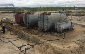 Демонтаж резервуарного парка АО «НОВАТЭК-Пур»