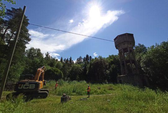 Снос водонапорной башни в Ломоносове